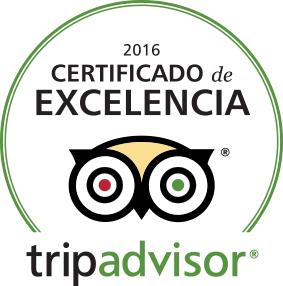 TripAdvisor® Certificate of Excellence 2016