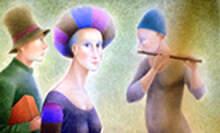 """הזמנה לשיח גלריה  בתערוכת """"מבטים"""" של האמן פאול קור"""