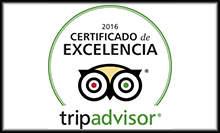 Certificado de excelencia TripAdvisor® 2016